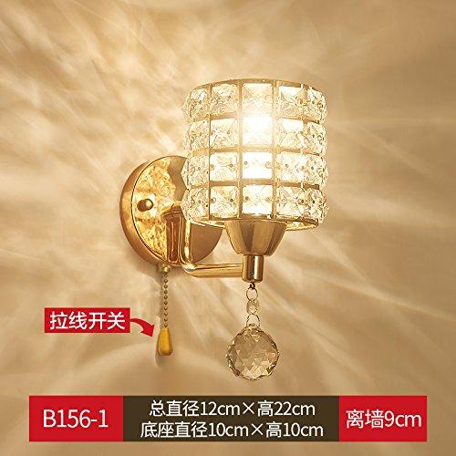 XCJJZ Wandlamp Wandlamp Crystal wandlamp goud led kristal muur lamp kamer slaapkamer woonkamer TV achtergrond muur gangpad enkele hoofd omvat: wandlampen, wandlamp met stekker.