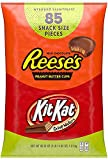 REESE'S and KIT KAT Assorted Milk Chocolate Snack Size Candy, Bulk, 46.38 oz Bulk Variety Bag (85 Pieces)