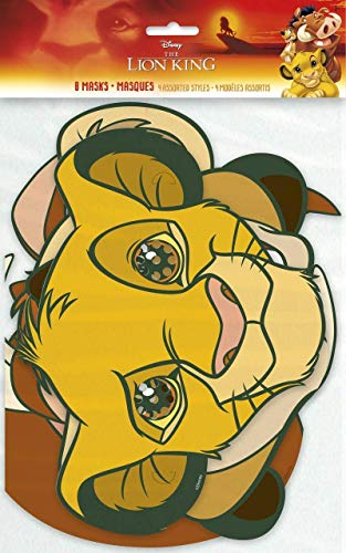 Unbekannt The Lion King Birthday Party Masks [8 Per Pack]