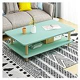 Mesas de café Mesa de café Mesa de té industrial de piso múltiple, usado para decorar el dormitorio de la oficina en la mesa pequeño apartamento en forma de cóctel de bajo forma de mesa Mesa de centro