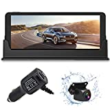 FHD 1080P Backup Camera and 7 inch Monitor kit for Truck/car/Pickup/rv/Trailer/SUV HD Rear or Front Camera with 49ft Long Cable