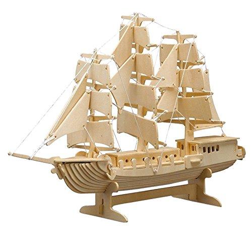 Peter Bausch 869 - Holzbausatz Segelschiff, 80 teilig