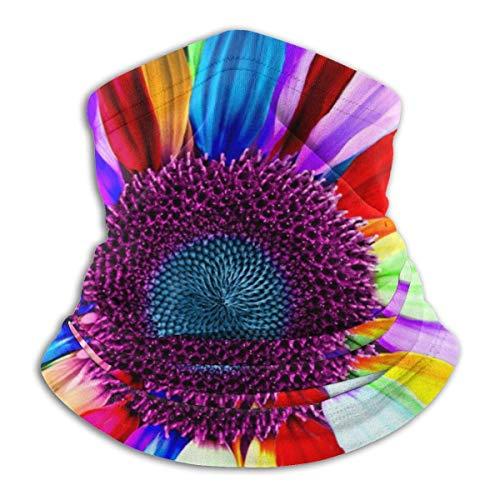 liusizheree Calentador de Cuello Polaina Imágenes De Flores Arcoiris protección Solar Transpirable Cubierta de la Cara Bufanda Tubo de Pulido a Prueba de Polvo para niños