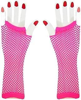 Black club Elbow Length fish net fingerless gloves 2 B