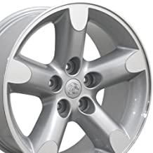 20x9 Wheel Fits Dodge, RAM Trucks - RAM 1500 Style Silver Rim w/Mach'd Face, Hollander 2267