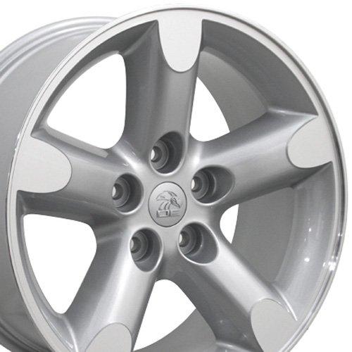 20x9 Wheel Fits Dodge, RAM Trucks - RAM 1500 Style Silver Rim w/Mach'd Face, Hollander 2267
