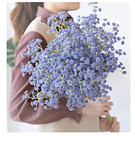 Tifuly Gypsophilas Artificiales de 12 Piezas, Flores de Gypsophila de plástico Lindas realistas de 23.6 Pulgadas para el hogar.Boda.Fiesta.Decoración de jardín, centros de Mesa(Púrpura)
