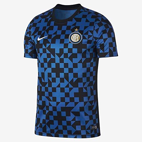 Nike Herren Inter M Nk Dry Top Ss Pm Shorts Sleeve Top S Blauer Funke/Blauer Funke/Schwarz/Weiß