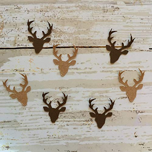 Deer Head Confetti, Deer Decorations, Woodland Party Supplies, Rustic Theme, Animal Decorations, Deer Theme, Antlers, Deer Cut Out