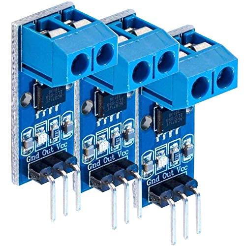 AZDelivery 3 x Modulo Sensor de Corriente ACS712 Módulo de Rango de medición 5A con E-Book incluido!