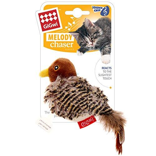 GiGwi 7020 Elektrisches / Interaktives Katzenspielzeug Melody Chaser Vogel mit bewegungsabhängigen Geräuschen, zur Beschäftigung - 5