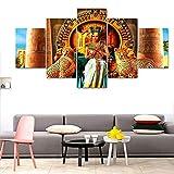 Arte Lienzo Pintura Estilo Pared Cuadros para la Sala 5 Piezas La Reina de Cleopatra Cuadros Decoración Moderna Pinturas-S