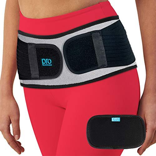SI Belt Hip Brace for Women and Men That Treat Sciatica, Including Lower Back Support, Lumbar, Pelvic & Leg Pain Relief. Stabilize Sacroiliac SI Joint. Anti-Slip Sciatic Nerve Braces (Regular Size)
