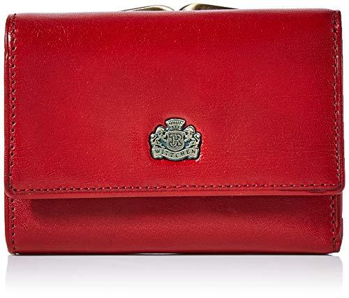 Wittchen 10-1-053-3  Damen Geldbeutel Portemonnaie aus Leder,Rot,11x8cm