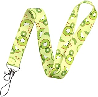 RedDoor_Hill Kiwi Fruit Slices Lanyard Keychain for Keys Badge ID Mobile Phone Rope Neck Straps Accessories Gifts, Light Green