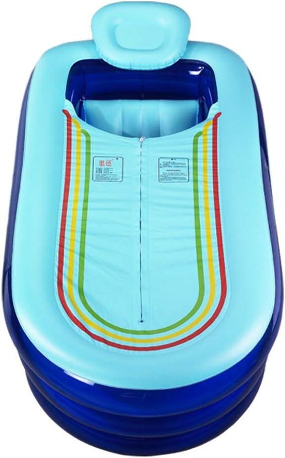 ZSP Piscina del Patio Trasero Bañera Inflable Engrosamiento Adulto Grande Adulto del hogar bañera Inflable baño portátil Plegable reclinable bañera bañera de Adulto baño Barril Piscina para niños