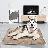 BCASE Cama Perro, Cama de Perros Grandes, Cama para Perros, Cama para Mascotas Desmontable y Extraíble Lavable 90 x 70 x 13 cm(L, Marrón Claro)