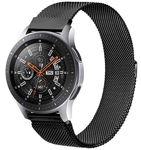 KOJJ Cinturino Compatibile con Samsung Galaxy Watch 46mm / Gear S3 Frontier / Galaxy Watch 3 45mm / Classic / Samsung Gear S3 /, Cinturino 22mm in Metallo per Huawei Watch GT / GT 2 46mm
