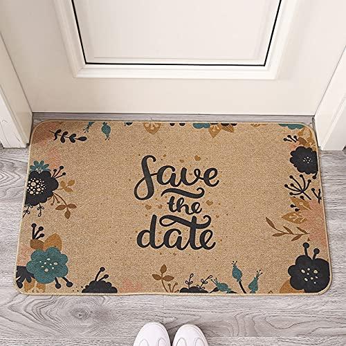 HAFRILY Linen - Zerbino semplice e fresco, 40 x 60 cm, antiscivolo e morbido, super assorbente. Tappetino per porta anteriore, utilizzato per cucina, ingresso, corridoio, porta, interni ed esterni