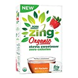 'Born Sweet Zing' Zero Calorie Organic Stevia Sweetener Packets - 80 Packet Count