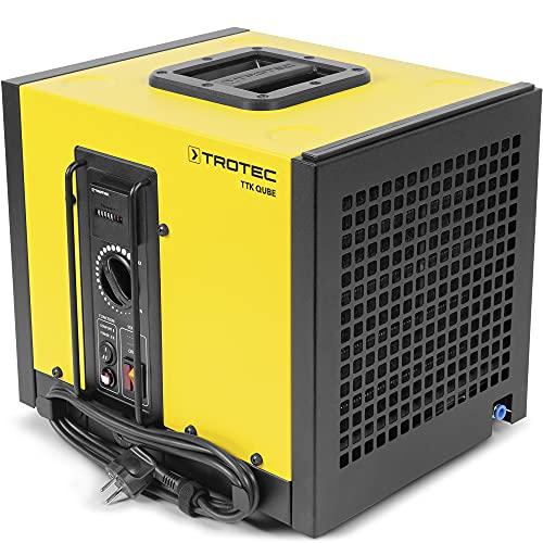 TROTEC Deumidificatore commerciale compatto TTK Qube (max. 20l giorno), adatto a stanze fino a 110 m³, Essiccatore a condensazione professionale compatto