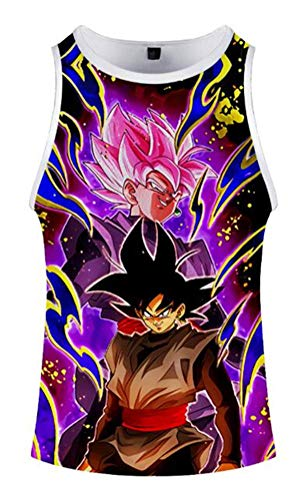 WANHONGYUE Anime Dragon Ball Z Goku Tank Top Camiseta...