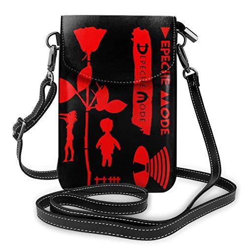 Depe-che Mo-de Crossbody Handy Geldbörse Mehrzweck-Geldbörse aus weichem PU-Leder
