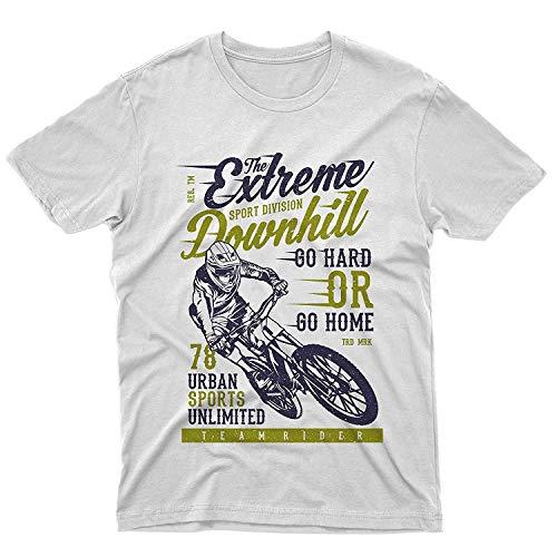 Fm10 Camiseta The Extreme Downhill bicicleta MTB Mountain Bike BMX Sport Bianco S
