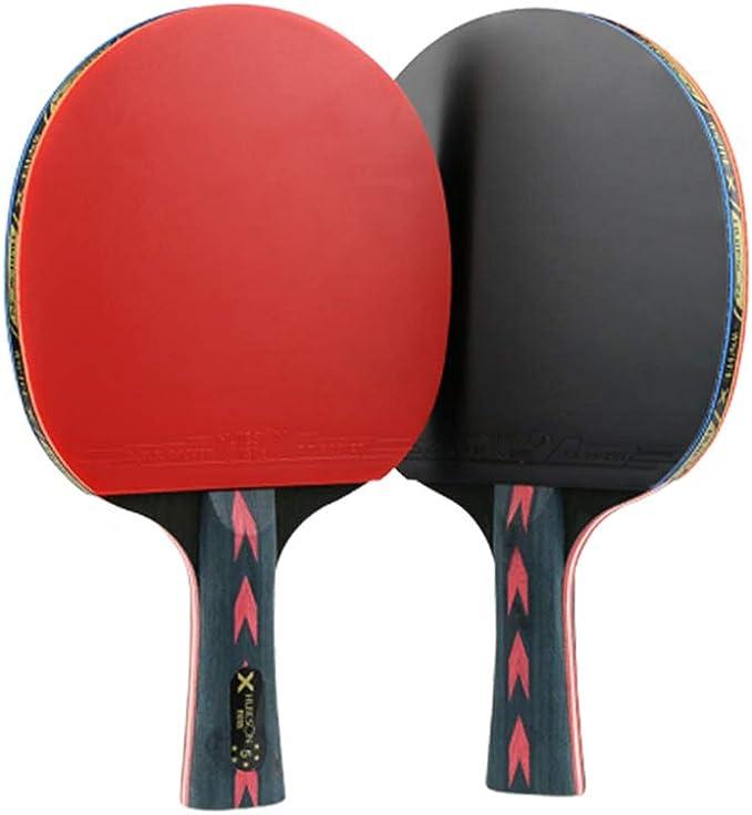 Raquete profissional de tênis de mesa 5 estrelas da Besportble, raquete de ping pong, raquete (Horizontal)