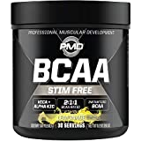 PMD Sports BCAA Stim-Free Amino Acids - Better Workout Performance, Enhanced Recovery, Daily Energy, Muscle Builder, and Muscle Sparing - BCAA Powder Drink Mix - Lemonade (30 Servings)