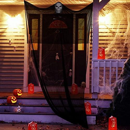 Ucradle Fantasma Colgante para Halloween, Decorado de Halloween, Fiestas de Halloween Accesorio, Cráneo Esqueleto Colgante, Esqueletos Fantasma Halloween Suministros para Fiestas Exterior Interiore
