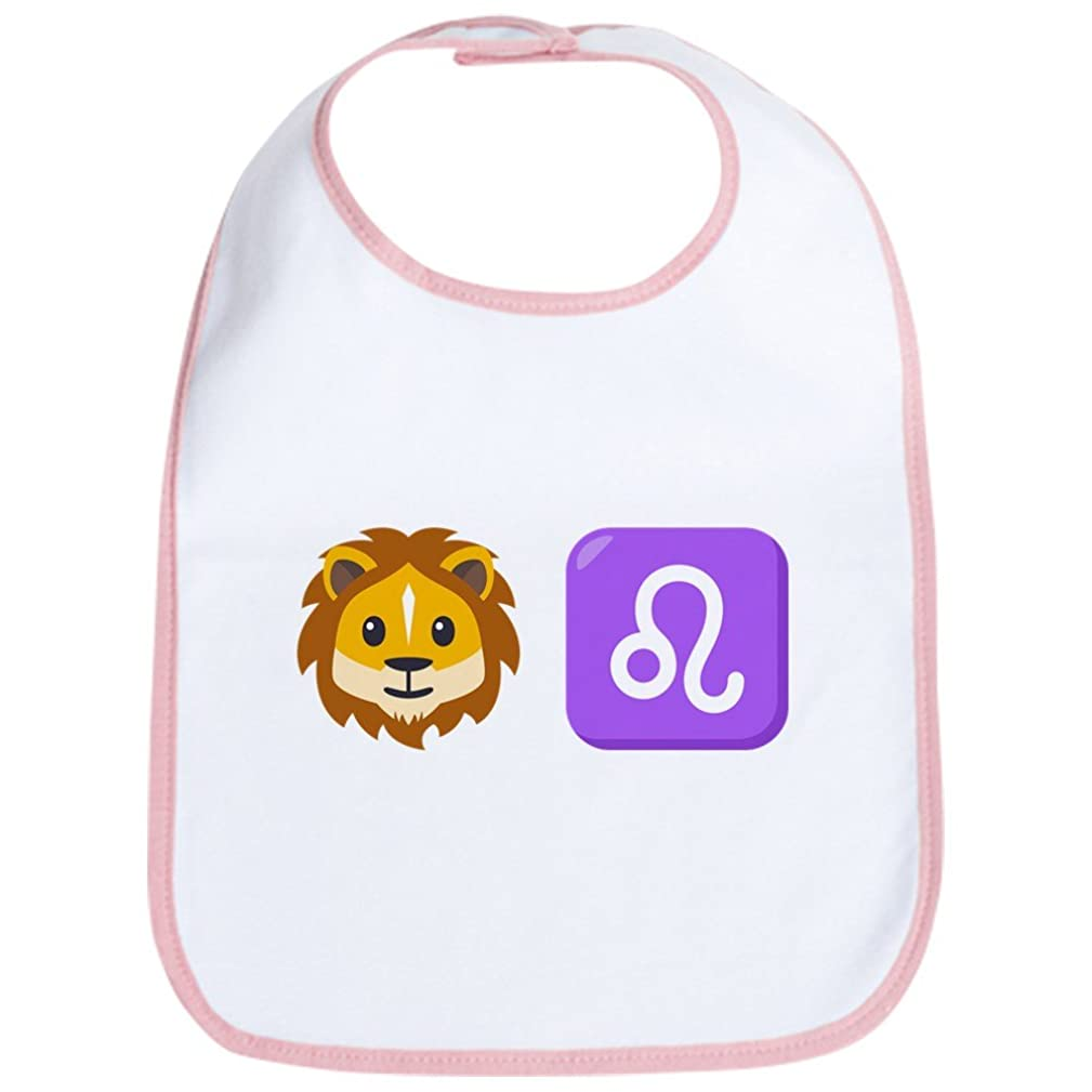 CafePress Emoji Leo Zodiac Cute Cloth Baby Bib, Toddler Bib