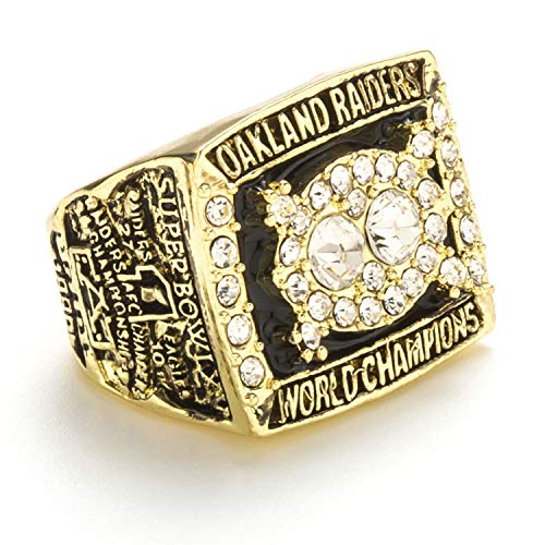 Sentoo 1980 Oakland Raiders Super Bowl Championship Ring Golden (10)