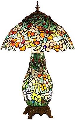 BDHBB Lámparas de Mesa Estilo Tiffany Art Deco, Dormitorio Lámpara ...
