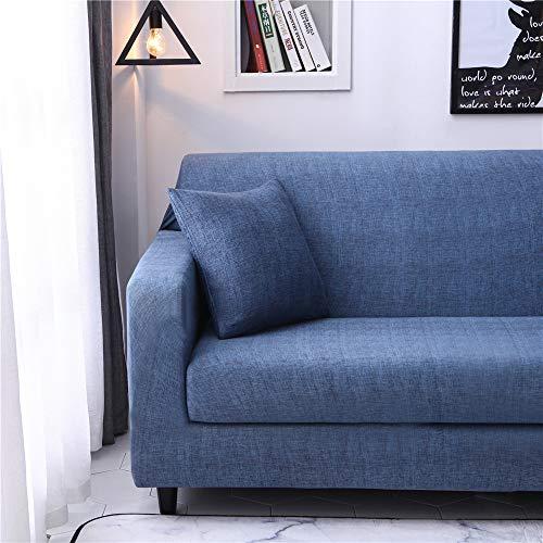 Funda de sofá Antideslizante de Poliéster Spandex Azul Marino Estampado,Funda elástica Antideslizante Protector Cubierta de Muebles para sofá de 2 plazas(1 Funda de Cojines)