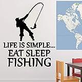 yaonuli Pesca in Vinile Adesivo da Parete per Cucina Carta da Parati Rimovibile Wall Sticker Decorazione della Stanza Decorazione della Parete Soggiorno 42x51cm