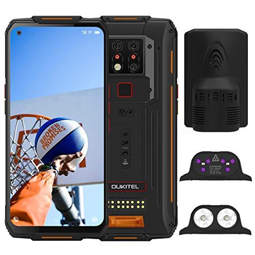 OUKITEL WP7 (2020) Outdoor Smartphone, 8GB 128GB Helio P90 Dual 4G IP68 wasserdichtes Handy, 6,53 Zoll Gorilla-Glas, 8000 mAh Akku, 48 MP dreifache Kamera, NFC (Orange Plus)