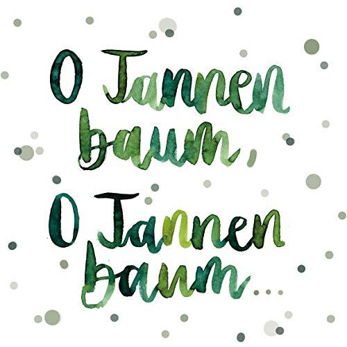 Servietten (2er Set / 40Stück) 3-lagig 33x33cm Xmas Weihnachten O Tannenbaum