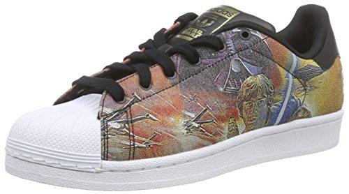 adidas Superstar Star Wars J, Zapatillas-ADIDAS-B24726-Niño niño, Negro/Blanco, 36 2/3