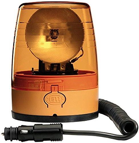 HELLA 2RL 008 966-001 Rundumkennleuchte - KL JuniorPlus - Halogen - H1 - 12V - Lichtscheibenfarbe: gelb - Magnetbefestigung