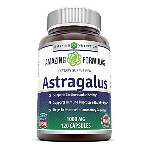 Amazing Formulas Astragalus All Natural Dietary Supplement – 1000 mg Capsule Capsules Made from Pure Astragalus Membranaceus Plant Root Extract - Made in The USA - 120 Capsules Per Bottle