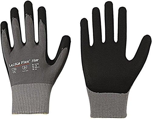 LeiKaFlex 6 x Star Feinstrick Handschuh Größe 9