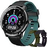 Smartwatch, Reloj Inteligente Hombre, Impermeable IP68 Pulsera Actividad Monitor de Sueño Calorías Podómetro Pulsómetro Notificación de Llamada y Mensaje para Android y iOS (Verde Oscuro)