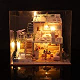 3D en bois bricolage Miniature maison meubles LED maison Puzzle décorer cadeaux créatifs jouets et loisirs éducation