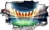 DesFoli Fussball Stadion Spielfeld 3D Look Wandtattoo 70 x
