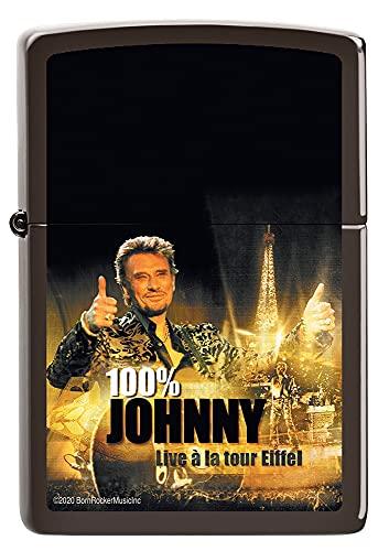 ZIPPO Johnny Hallyday - Briquet tempête à Essence Rechargeable dans Un Coffret Cadeau de Haute qualité