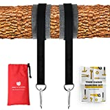 Tree Swing Hanging Kit (Set Of 2) Holds 2200 LBS Extra Long 10 ft Straps + 2 Tree Protectors + 2 Carabiners with Locking System & Video Instructions, for Swing Sets, Tree Swings, Hammock & Tire Swing