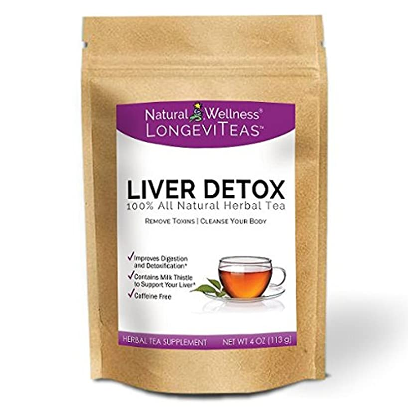 Natural Wellness Liver Detox Tea - Supports Detoxification and Digestion - 45 Servings