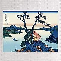タペストリー 浮世絵の背景の布insは布の富岳の36景の寝室の部屋のウォールデコを掛けて掛けて枕元の壁の布の絵を描きます