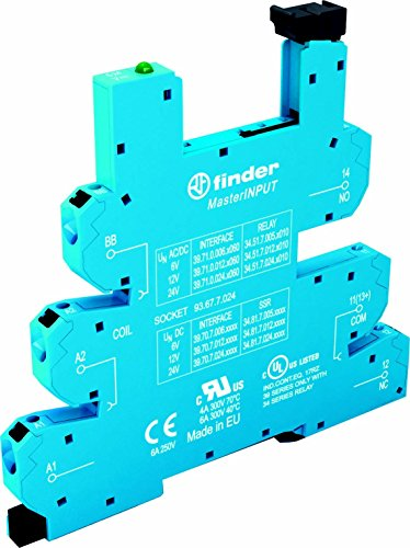 Finder serie 93 - Zócalo borne push-in 6-24v ac/dc azul